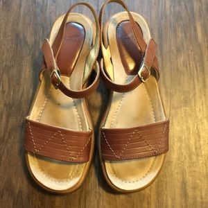 Dansko Brown Leather Sandals Size 39